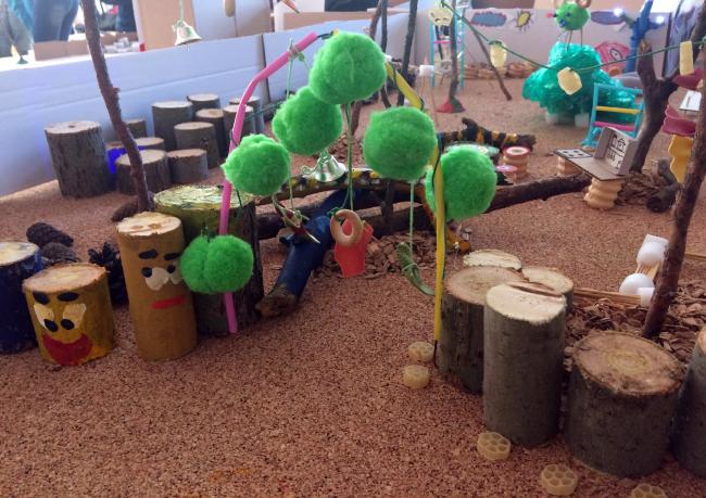 Макет, сделанный детьми на первом воршкопе. Творческий сквер в Выксе
