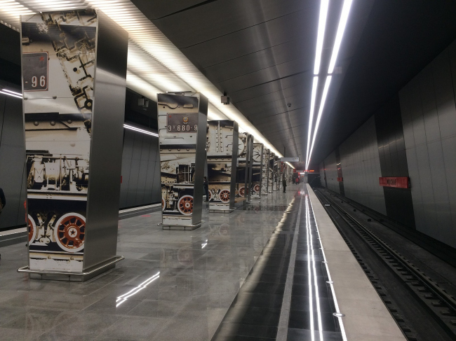 Интерьер станции метро «Минская»