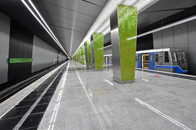Интерьер станции метро «Раменки»