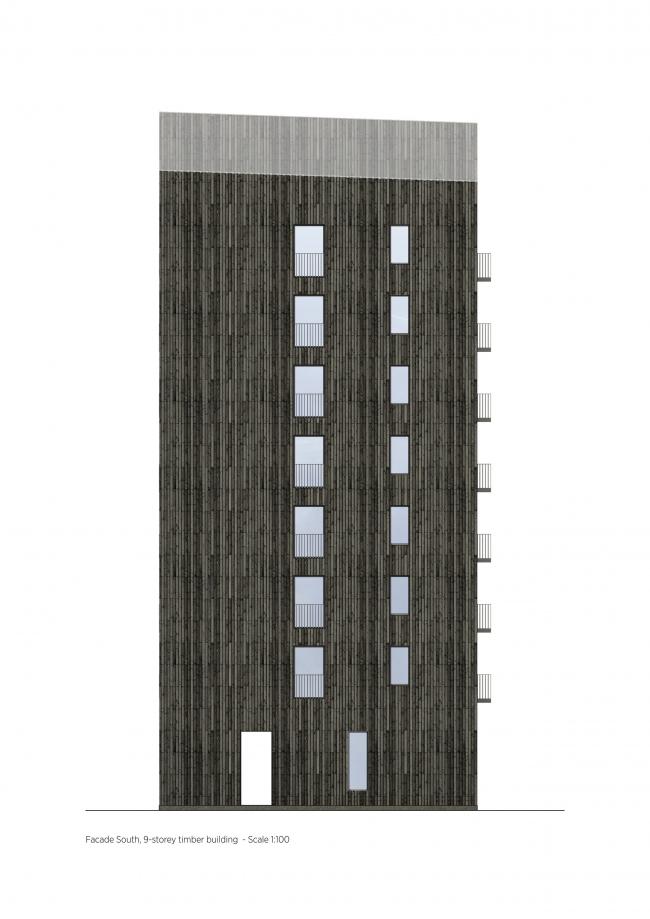 Деревянная жилая башня Kajstaden