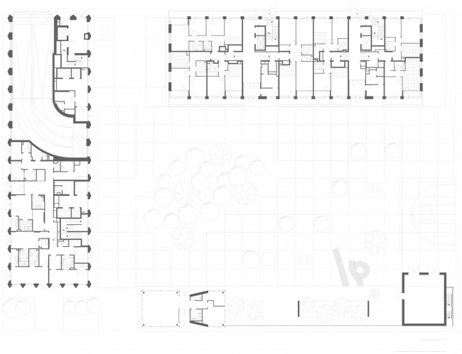 Plan of the 1st floor. High-end residential complex Vitality