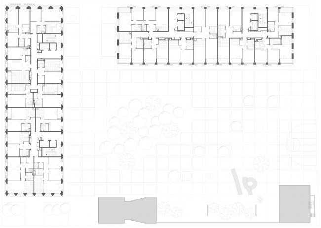 Plan of the 5th floor High-end residential complex Vitality