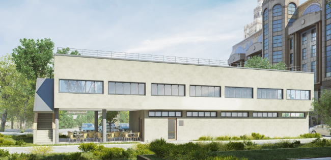 """Project of restoring and readjusting the architectural heritage site """"Narkomfin Laundry"""""""