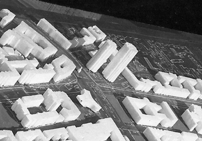 Макет застройки Тургеневской площади. 1967 г.