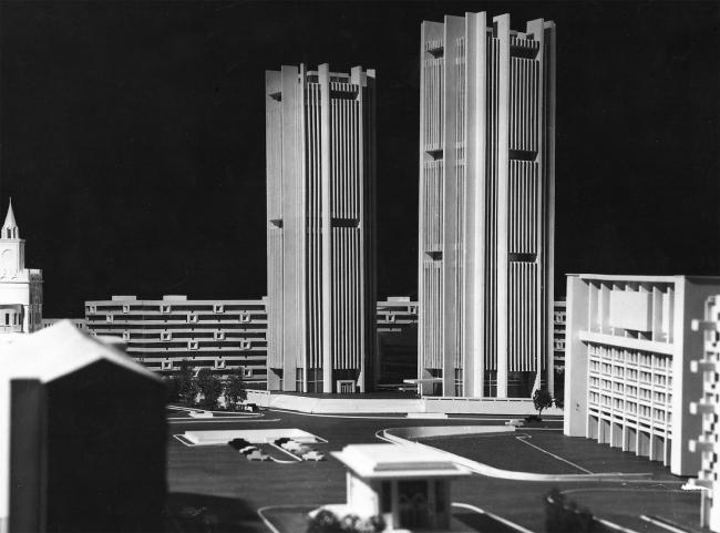 Макет Тургеневской площади. 1975 г.