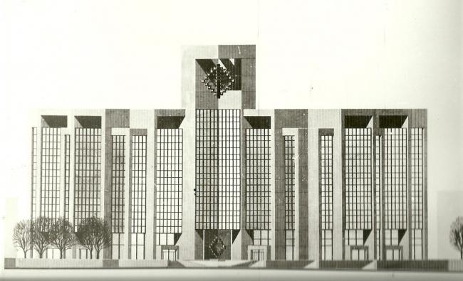 Диагональный фасад