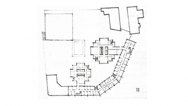 Предложение руководства «Моспроекта-2». План Комплекса. 1975 г.