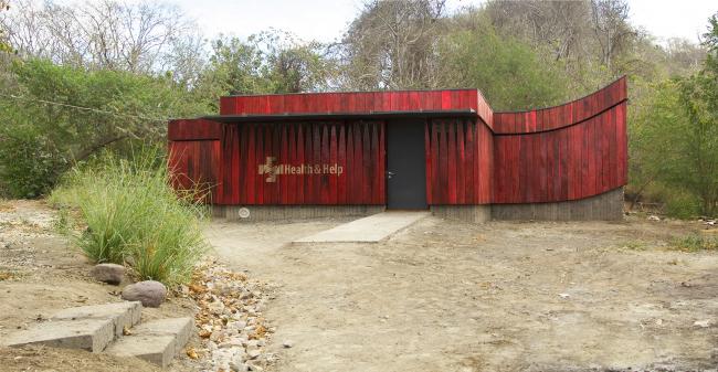 Главный фасад. Благотворительная клиника в Никарагуа