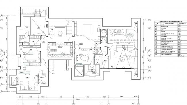 План цокольного этажа. Дом в Подмосковье