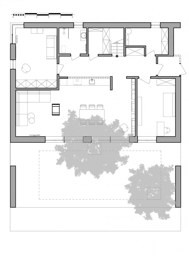 План 1-го этажа. Горка Дом