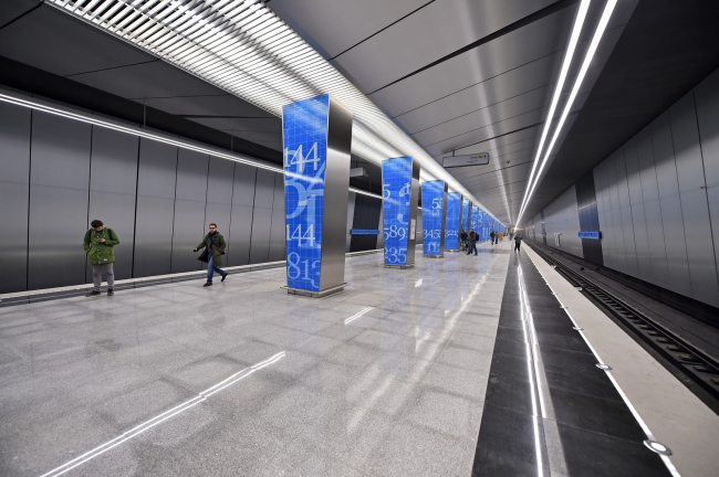 Интерьер станции метро «Ломоносовский проспект»