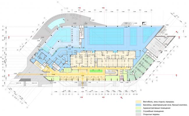 План 1-го этажа. Многофункциональный спортивный центр Миллениум sport