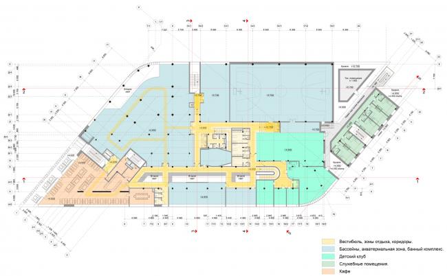 План 2-го этажа. Многофункциональный спортивный центр Миллениум sport