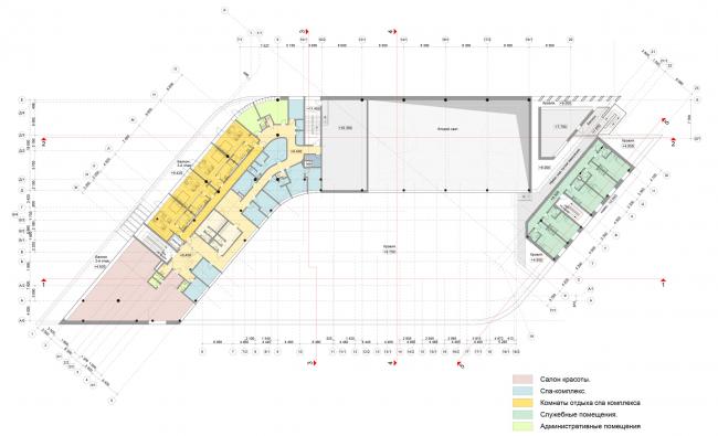 План 3-го этажа. Многофункциональный спортивный центр Миллениум sport