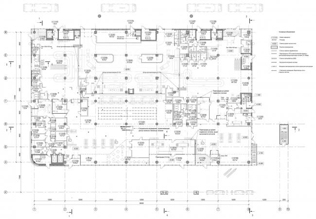 План на уровне 0,000. Пассажирский терминал аэропорта в Кемерово