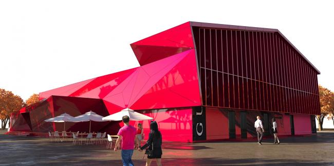 Реновация фасадов здания развлекательного центра «Огни Сухоны»