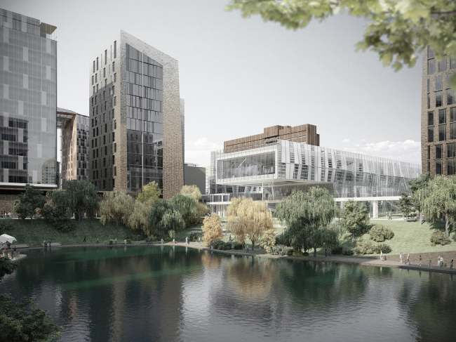 The concept for building a residential area in Moscow′s district of Khamovniki