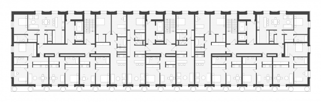 План типового этажа. ЖК «Кутузовский XII»