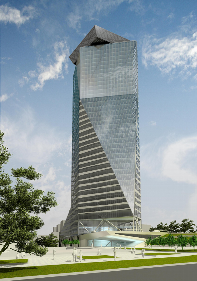 Multi-use high-rise building in Novosibirsk. A contest project