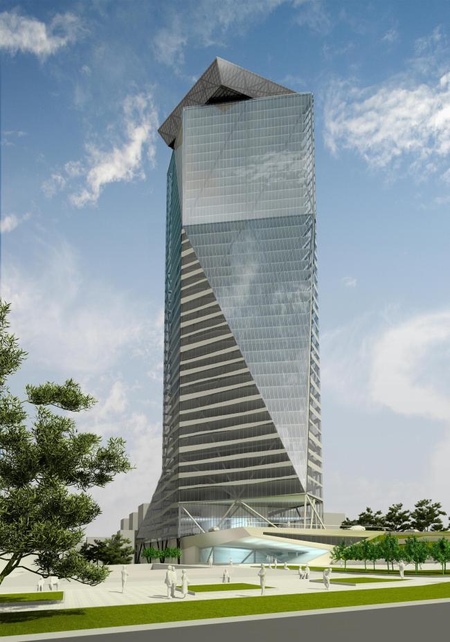 Проект ABD architects. Многофункциональное высотное здание в Новосибирске. Конкурсное предложение