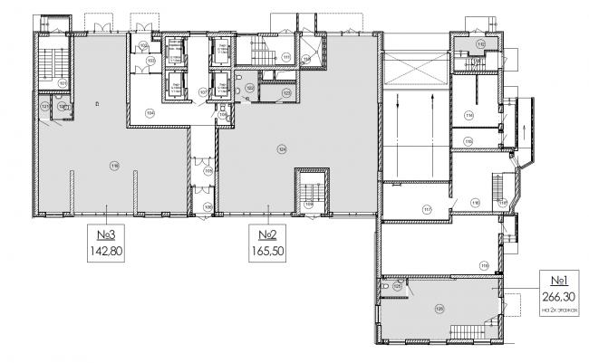 План 1-го этажа. ЖК «Дом на Березовой роще»