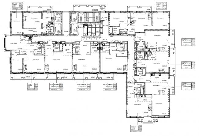 План верхнего типового этажа. ЖК «Дом на Березовой роще»