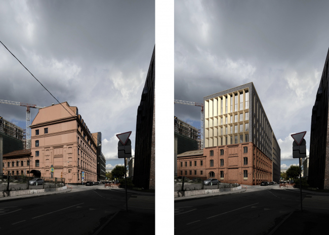 The reconstruction project in the Bolshoy Nikolovorobinsky Alley. The building is converted into a housing complex.