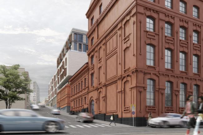 Клубный дом NV/9 ARTKVARTAL. Вид с Большого Николоворобинского переулка