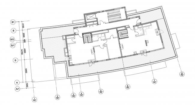Корпус апартаментов А2.  План 5-го этажа. Комплекс апартаментов и таунхаусов FELLINI