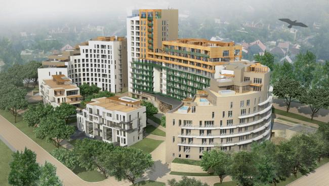 «Овальный дом». Многофункциональный комплекс – апарт-отель с жилыми домами в Геленджике, проект, 2008