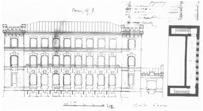 Facade of the building on the Tessinsky Alley, 1890