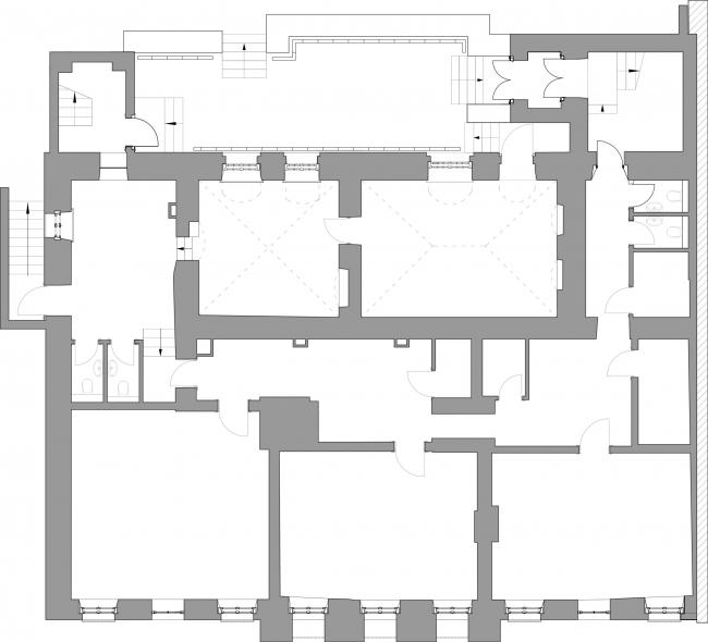Проект реставрации усадьбы А.П. Сытина. План цокольного этажа