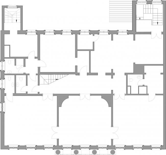 Проект реставрации усадьбы А.П. Сытина. План первого этажа