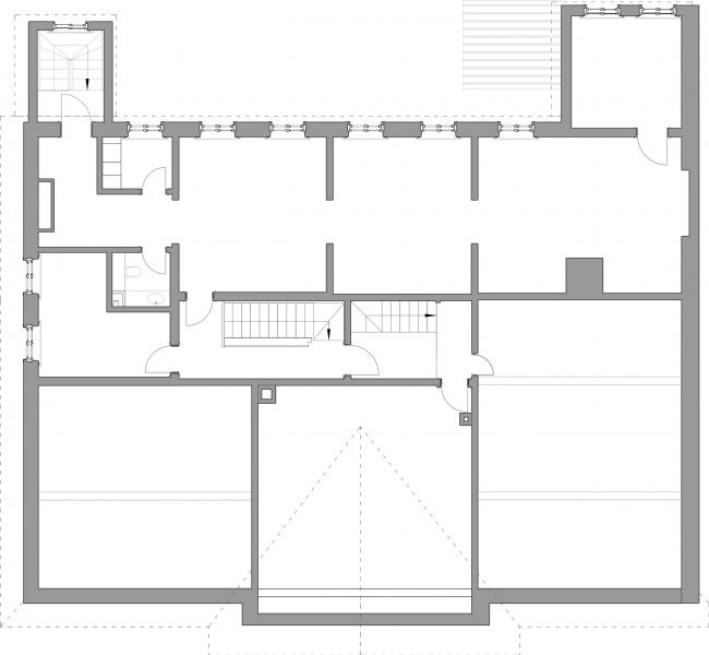 Проект реставрации усадьбы А.П. Сытина. План антресолей первого этажа