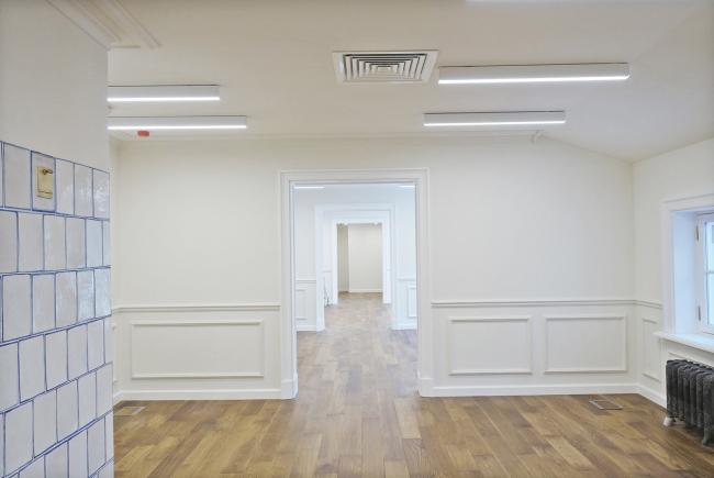 Проект реставрации усадьбы А.П. Сытина. Антресоли первого этажа. Фото после реставрации 2019 год
