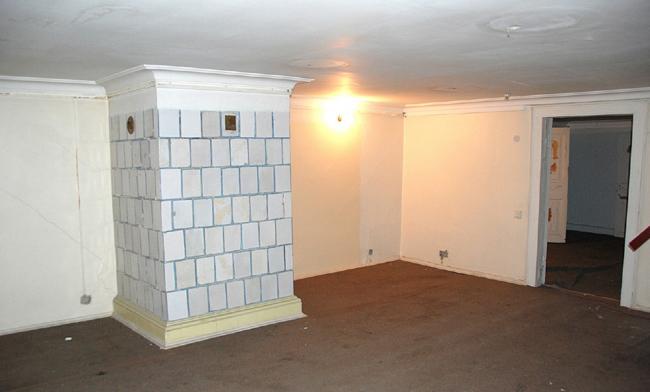 Проект реставрации усадьбы А.П. Сытина. Антресоли первого этажа. Фото до начала реставрации 2016 год