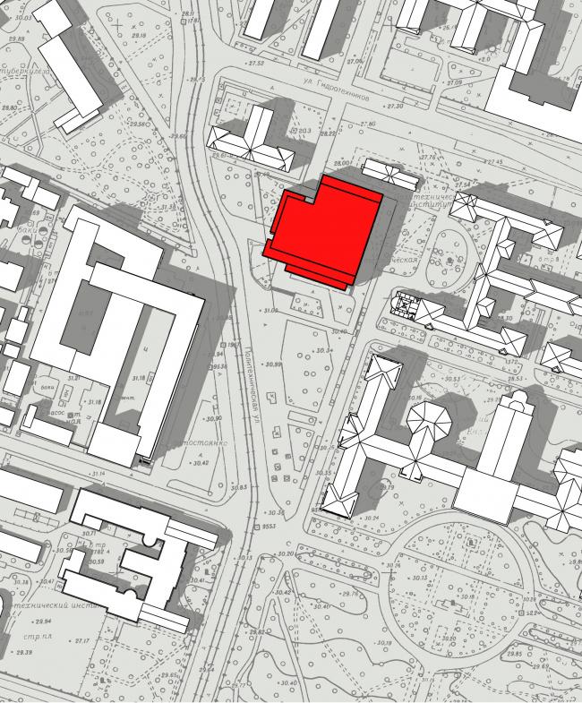 Ситуационный план. Реконструкция вестибюля станции «Политехническая» и строительство МФК