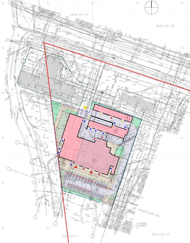 Генплан. Реконструкция вестибюля станции «Политехническая» и строительство МФК