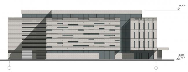 Северо-западный фасад. Реконструкция вестибюля станции «Политехническая» и строительство МФК