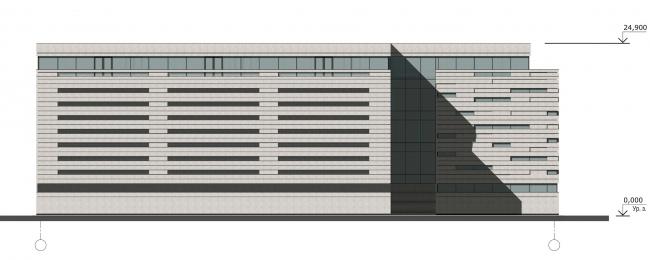 Северо-восточный фасад. Реконструкция вестибюля станции «Политехническая» и строительство МФК