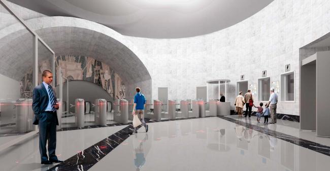 Внешний вид вестибюля. Реконструкции наземного вестибюля станции метрополитена «Парк Победы»