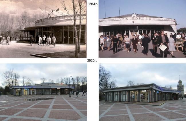Облик станции метро «Парк победы». Реконструкции наземного вестибюля станции метрополитена «Парк Победы»