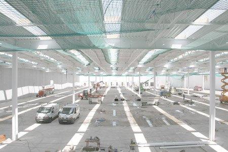 Фабричный корпус Vitrashop в процессе строительства