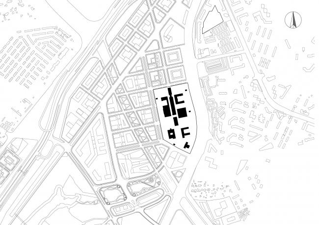 "The master plan. Multipurpose medical center ""Novomoskovsky"" in Kommunarka"