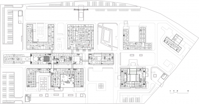 "Multipurpose medical center ""Novomoskovsky"" in Kommunarka. Plan of the 2nd floor"