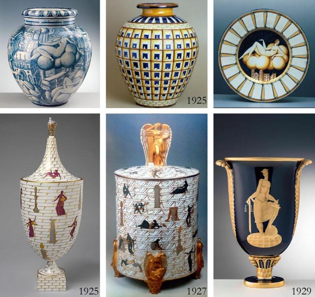 Керамика эпохи ар-деко – Джо Понти