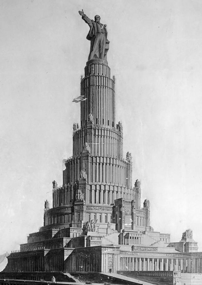 Проект Дворца Советов, арх. Б. М. Иофан, В. А. Щуко, В. Г. Гельфрейх 1934