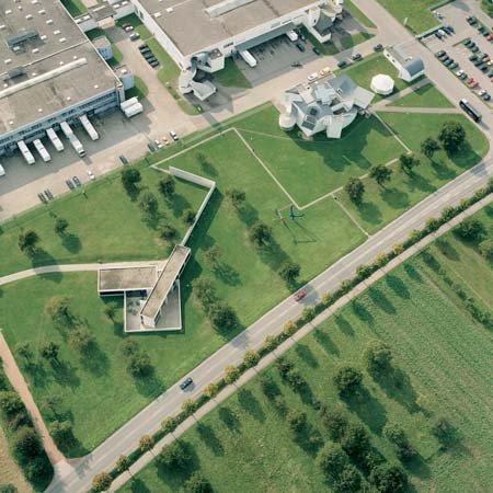 Вид на кампус «Витры» в Вайле-на-Рейне с воздуха