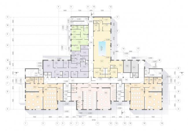 План 1-го этажа. ГБДОУ № 47 Пушкинского района Санкт-Петербурга
