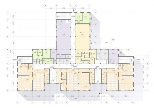 План 2-го этажа. ГБДОУ № 47 Пушкинского района Санкт-Петербурга